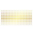 crown gold halftone array vector image vector image