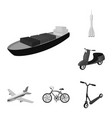 different types of transport monochrome icons in vector image vector image