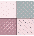 Doodle seamless pattern set with hearts vector image vector image