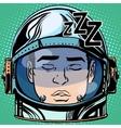 emoticon sleep Emoji face man astronaut retro vector image vector image