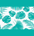 exotic tropical greenery botanical pattern vector image vector image