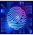 Fingerprint security system vector image