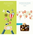Flat travel background Summer holidays vacation vector image