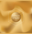 gold gradient background vector image vector image