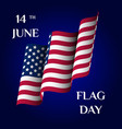greeting card flag day vector image vector image