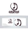 grunge studio logo design vector image vector image