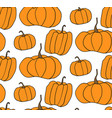 halloween pumpkin pattern white background vector image