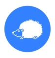 Hedgehog icon black Singe animal icon from the vector image