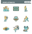 Icons line set premium quality of sports vector image vector image