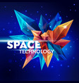 image of a faceted crystal space technology vector image vector image