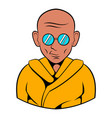 indian monk in sunglasses icon cartoon vector image vector image