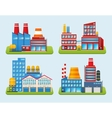 Industrial Building Set vector image vector image