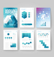 infographics brochure blue vector image vector image