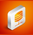 isometric server data web hosting icon isolated vector image