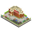 isometric supermarket area concept vector image vector image