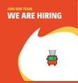join our team busienss company fire brigade truck vector image