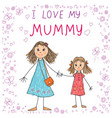 kids drawing happy mothers day vector image