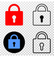 lock eps icon with contour version vector image vector image