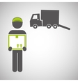 Logistic design Shipping and Delivery conception vector image vector image
