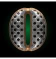 metal and wood figure o vector image vector image