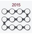 modern circle 2015 calendar vector image