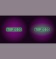 neon banner of top 3 the best vector image vector image