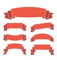 orange ribbon banners set vector image vector image