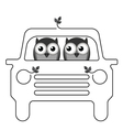 OWL CAR vector image vector image
