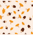 pattern with autumn elements vector image vector image