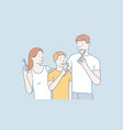 personal hygiene concept vector image