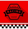 Racing stamp-09 vector image vector image