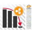 ripple epic fail chart flat icon with bonus vector image vector image