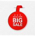 sale price tag or label isolated on transparent vector image vector image