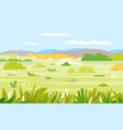 savanna landscape nature background vector image vector image