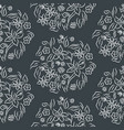 seamless pattern floral print vector image vector image