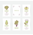 Set of business card templates with vegetarian vector image vector image