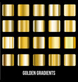 set of gold gradients golden squares vector image vector image