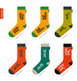 set socks with telugu indian characters vector image vector image