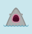 shark head face with big open mouth and sharp vector image vector image