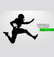 silhouette of football player vector image