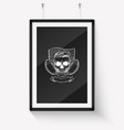 sketch angry skull american football player vector image vector image