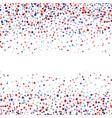 Stars confetti in red white and blue
