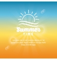 Summer design sun icon graphic vector image