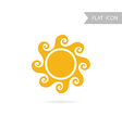 Sun Icon isolated on White Background vector image vector image