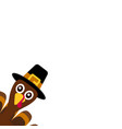 turkey funny thanksgiving on white background vector image