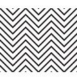 zigzag black and white pattern vector image vector image