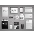 Business mock up set vector image