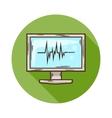 ECG Monitor icon vector image