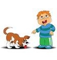 Boy and dog vector image