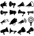 Megaphone speaker icons set vector image